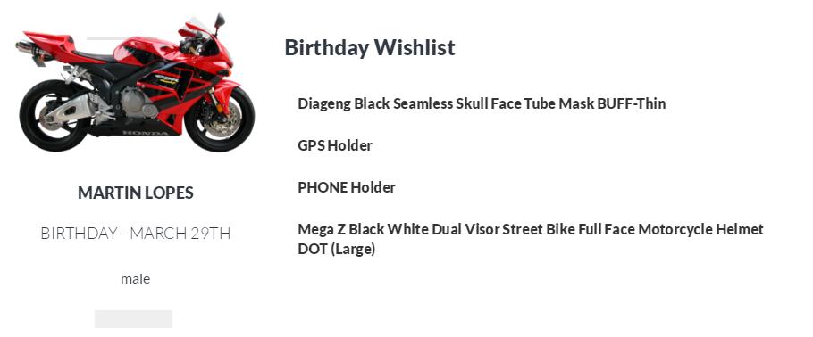 cd68d605 Martin Lopes's Wishlists | KidzWL - Wishlists